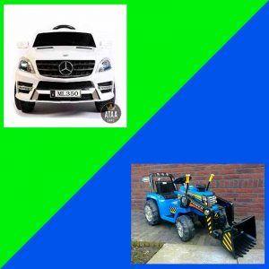 Coches-eléctricos-de-Juguete-y-Tractores-y-remolques