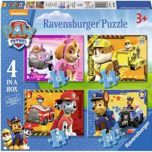 Ravensburger-PPL Paw Patrol--Puzzle-4-in-1